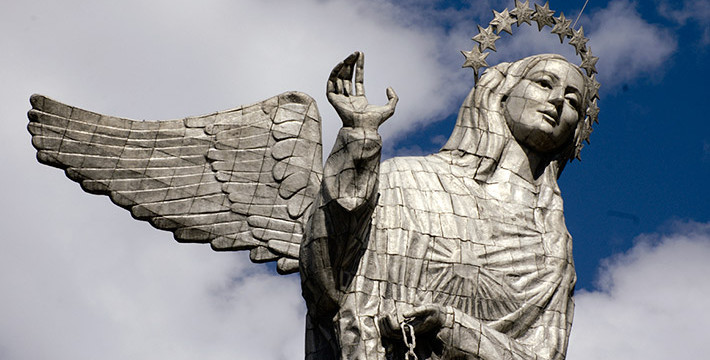 The Virgin looking at Quito – El Panecillo | Community Adventures ...